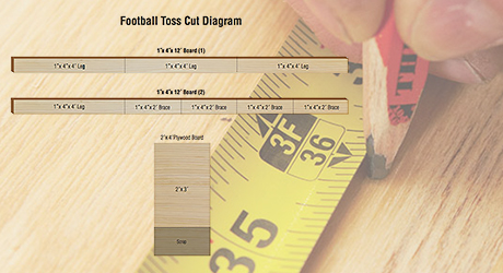 Measure mark - DIY Football Toss