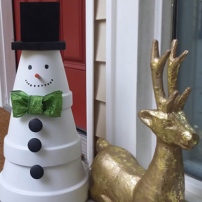Make a Terra Cotta Snowman