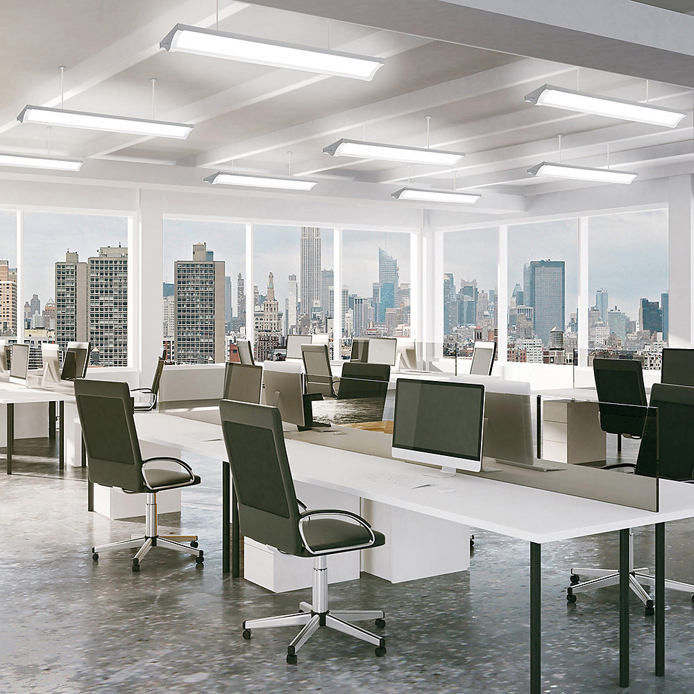 An open floor plan commercial office