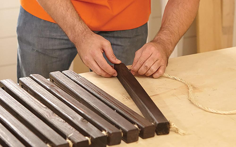 Clean up the mat - Outdoor Wood Doormat