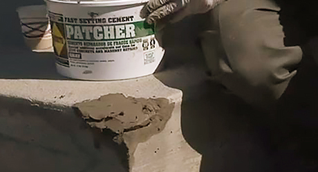 Apply bonding agent once - Repairing Concrete Steps
