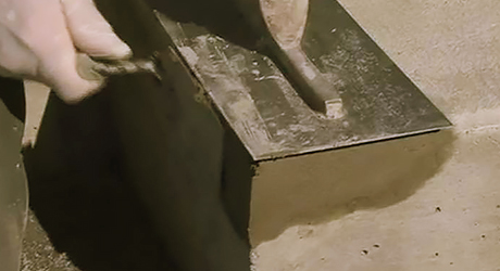 Tape together wood form - Repairing Concrete Steps