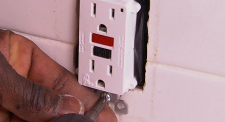 Install the new receptacle - Replacing Electrical Outlet