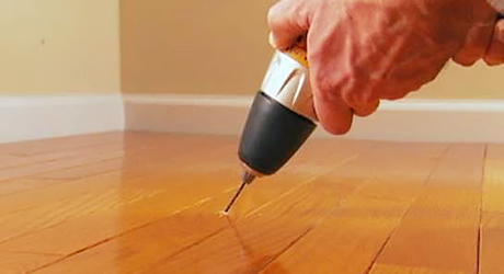 Anchor stair risers  - Stopping Squeaks Your Floors Stairs