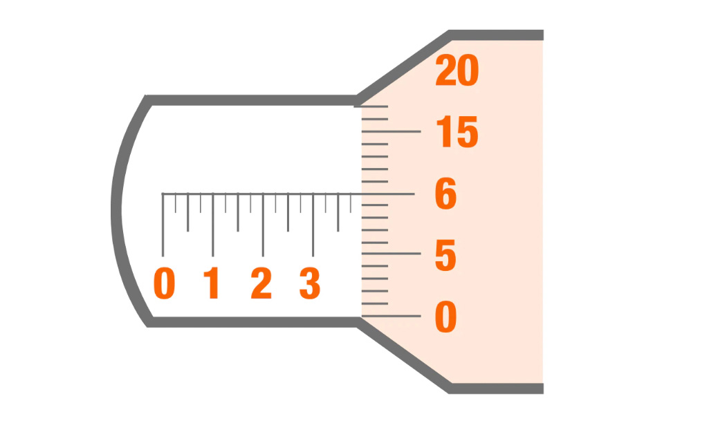 A diagram of a micrometer sleeve