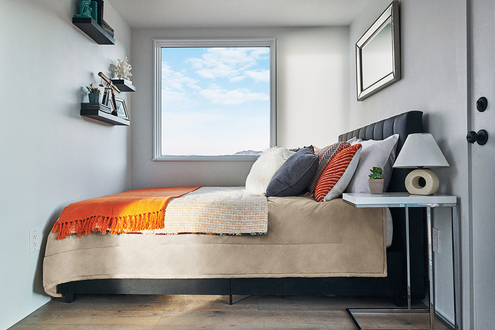 thiết lập và trang trí phòng ngủ ngôi nhà nhỏ