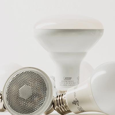Assortment of hanging light bulbs