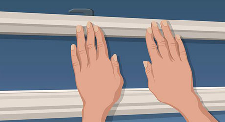 Seal gap where top sash meets - Weatherproofing Windows