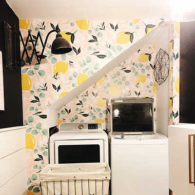 A Fresh and Fun Laundry Room Transformation