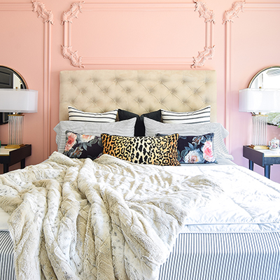 Accent Wall Paint as Decor in a Master Bedroom