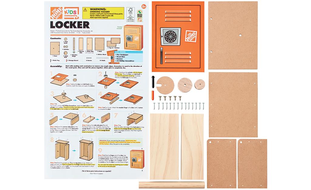 Danh sách các hướng dẫn cũng như các công cụ và vật liệu.