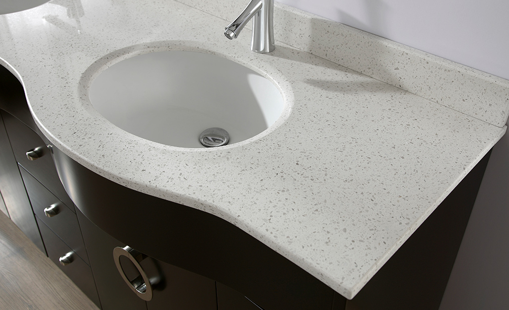 A quart bathroom vanity countertop.