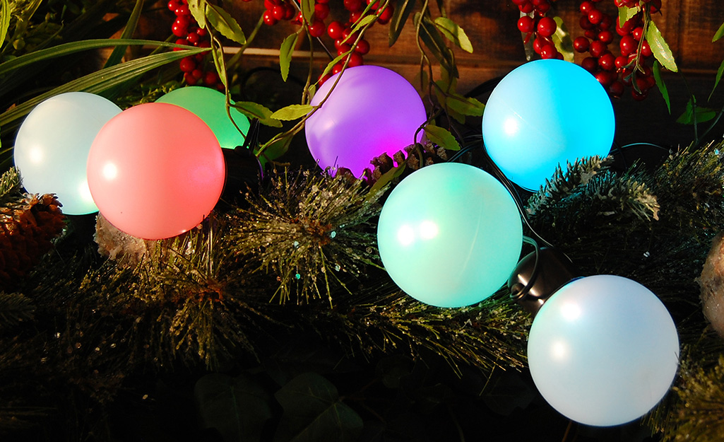 Solar lights for holiday decorating at your home.