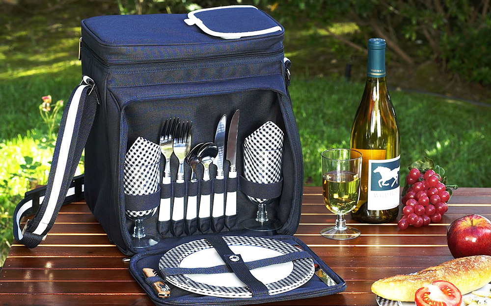 Coolers with picnic accessories