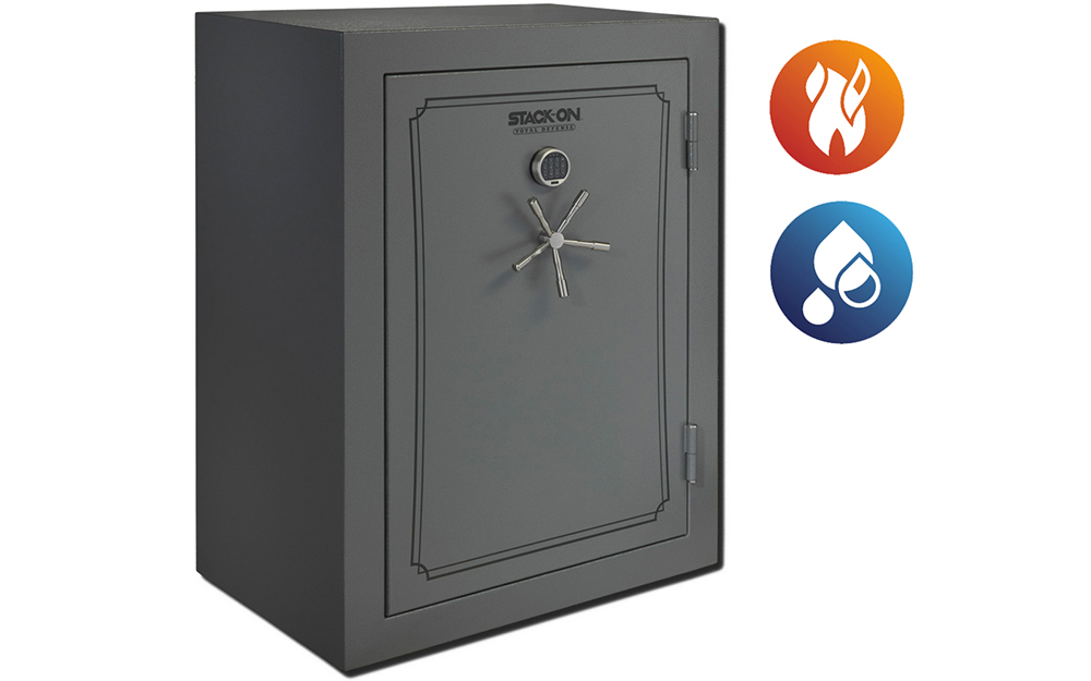 A gun safe designed to protect from water and heat.