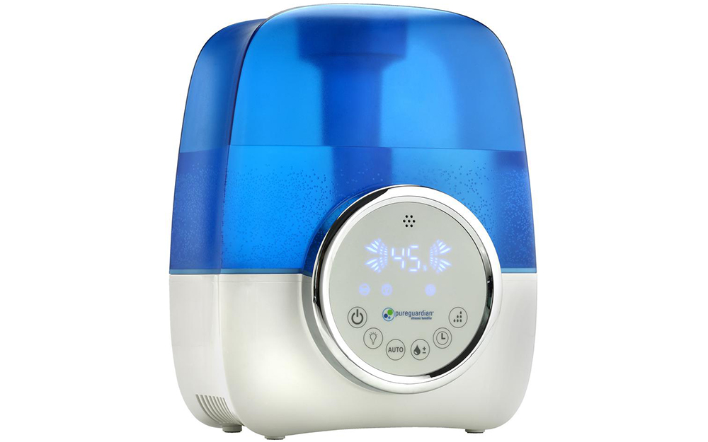 blue and white Ultrasonic humidifier