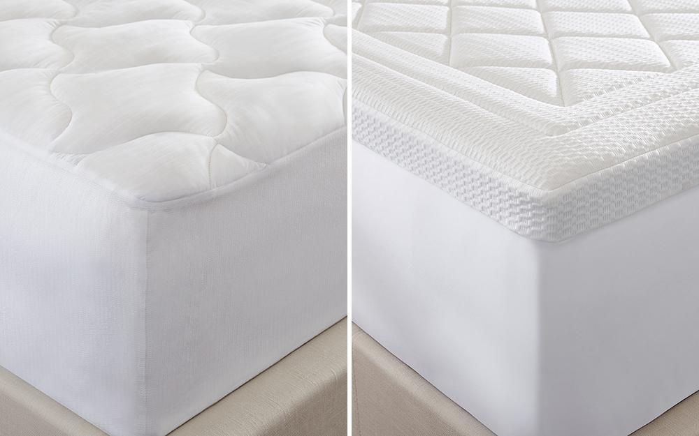Hai tấm đệm khác nhau trên các giường khác nhau.