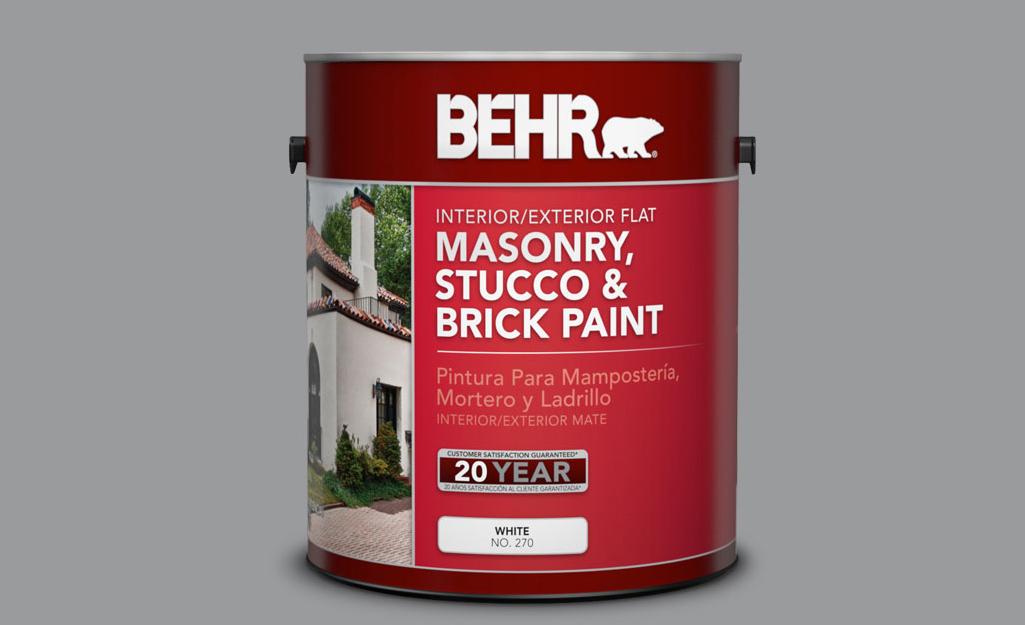 Một thùng sơn xây.
