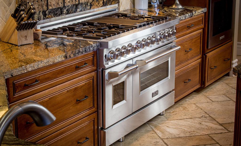A double oven range.
