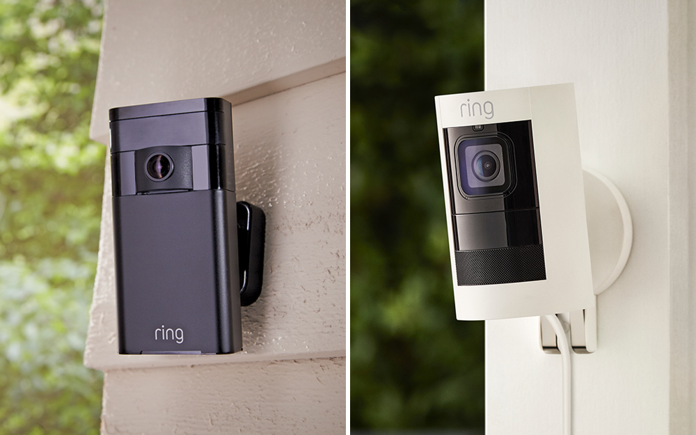 wireless security camera attached to a building