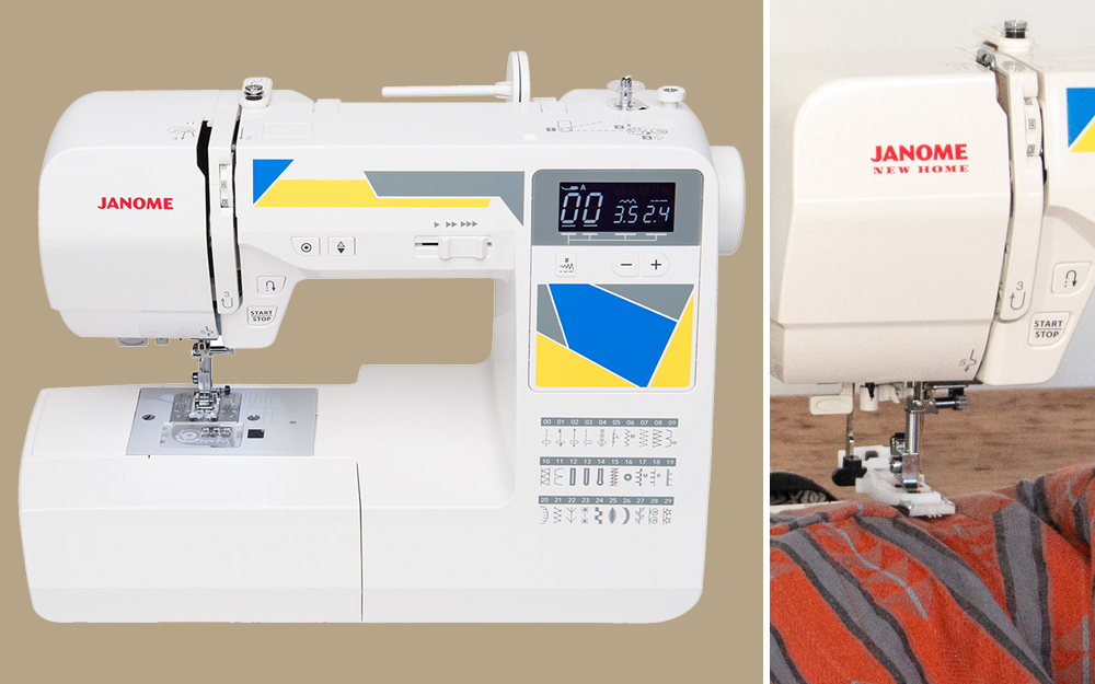 using an electronic sewing machine to tailor fabric