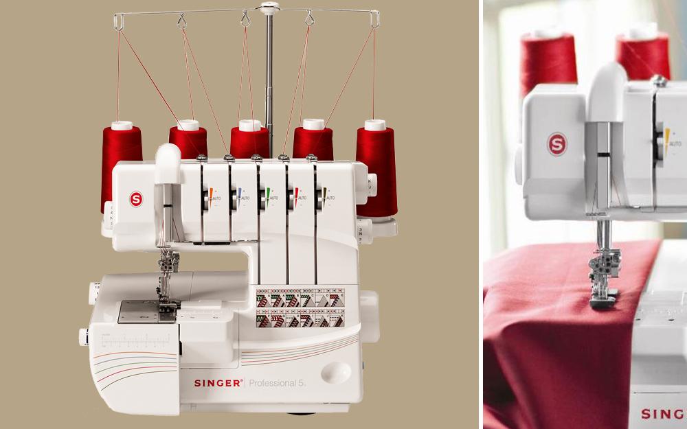 using a serger overlock sewing machine to hem cotton garment