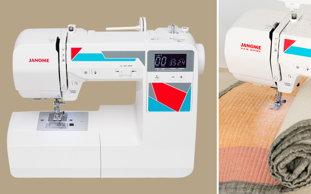 using a quilting sewing machine to sew a quilt