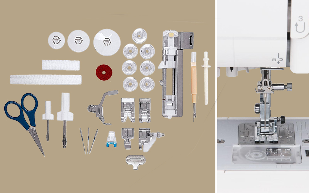 Basic features and accessories of the best sewing machine