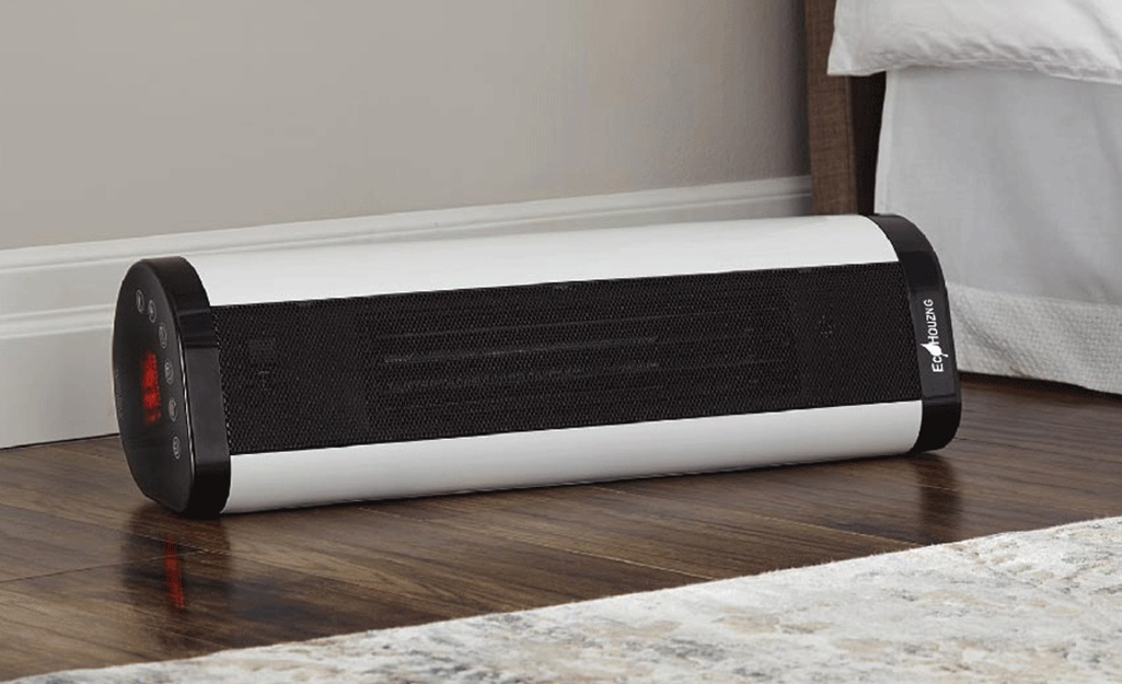 A portable space heater.