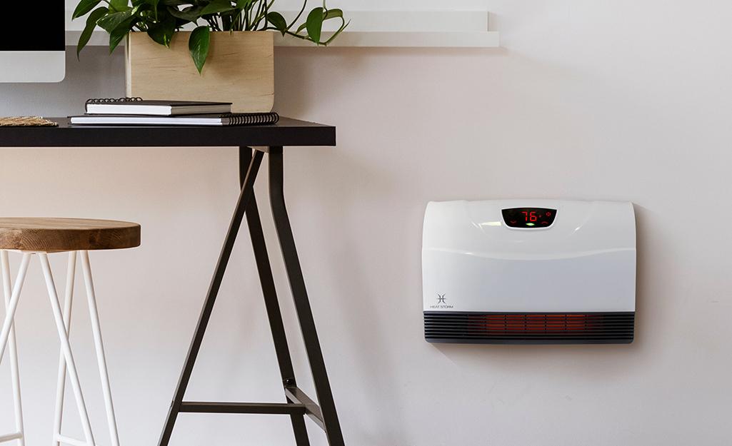 A portable wall heater.