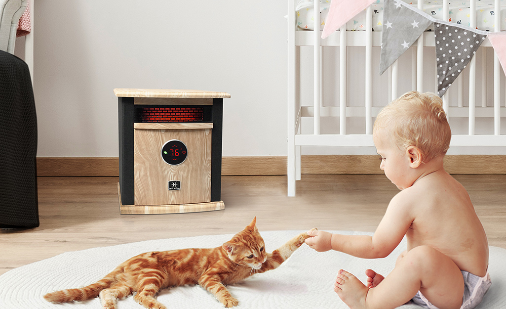 An infrared or reflective heater is another portable option.