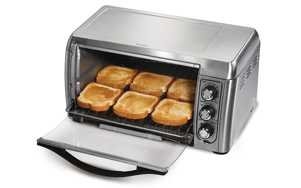 toasting bread in 6 slice toaster oven