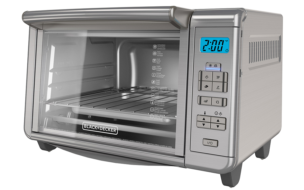 digital toaster oven with LED screen