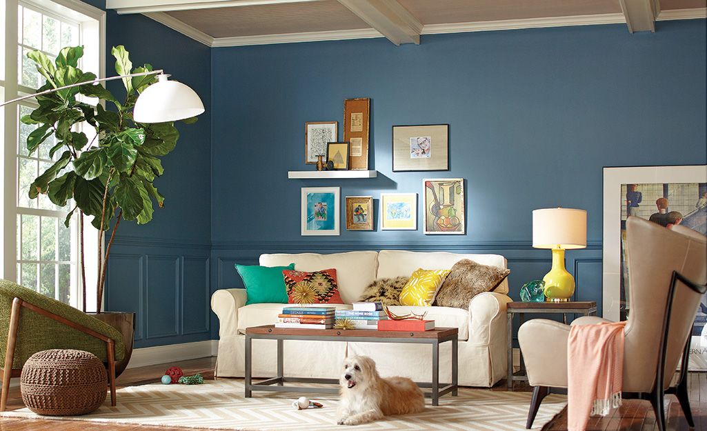 Blue Living Room Ideas - The Home Depot