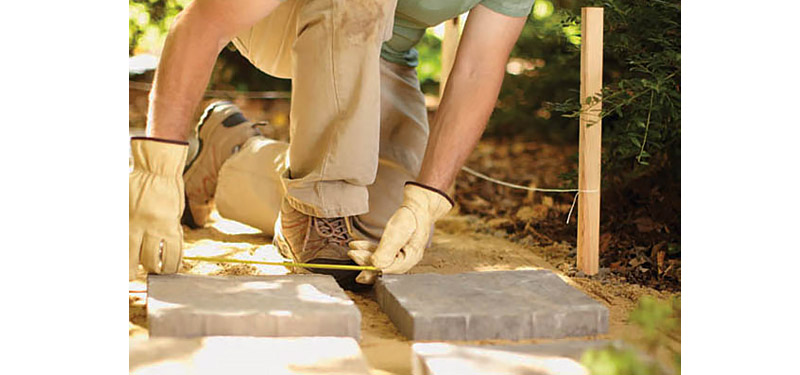Measure and Lay out Stones