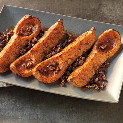 Butternut Squash with Candied Pecans Recipe
