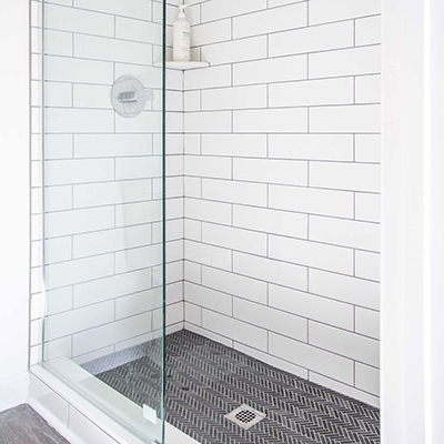 Classic Tile for a Walk-In Shower Renovation