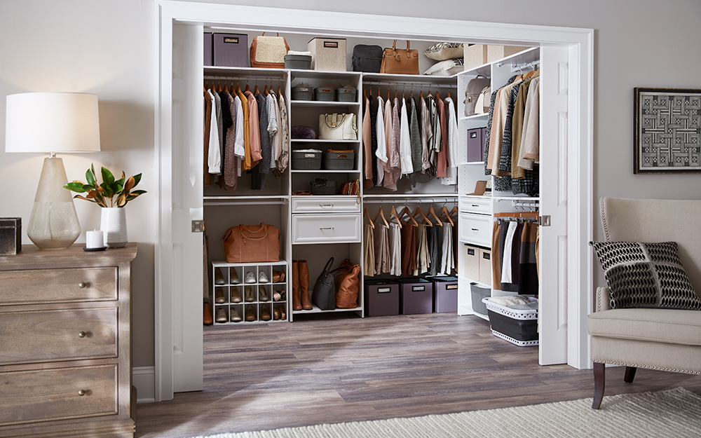 a well-organized closet