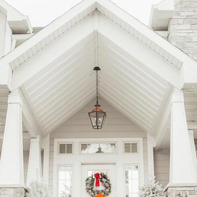 Designing a Winter Wonderland Front Porch