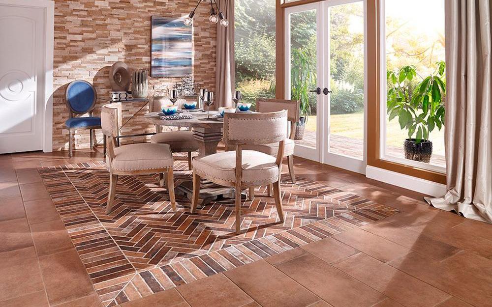 coastal dining room with aqua and nautical decor