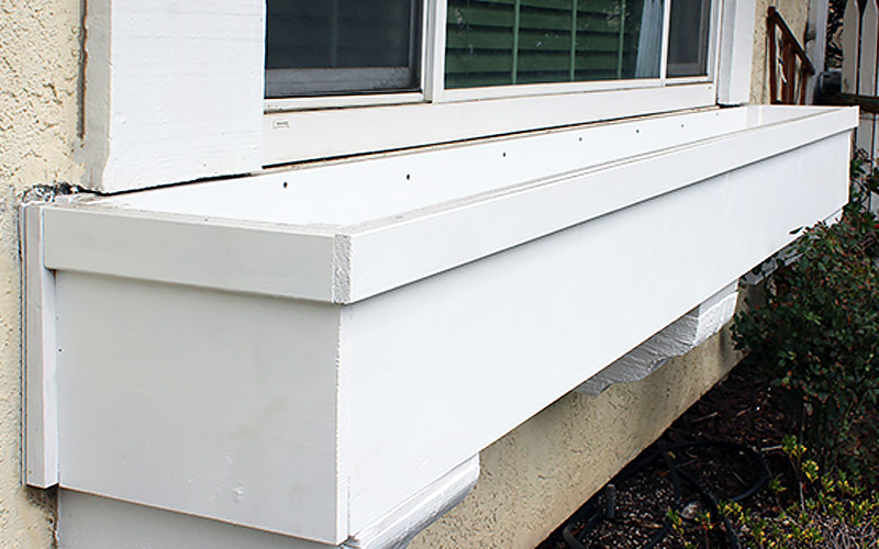 Attach Window Box to House