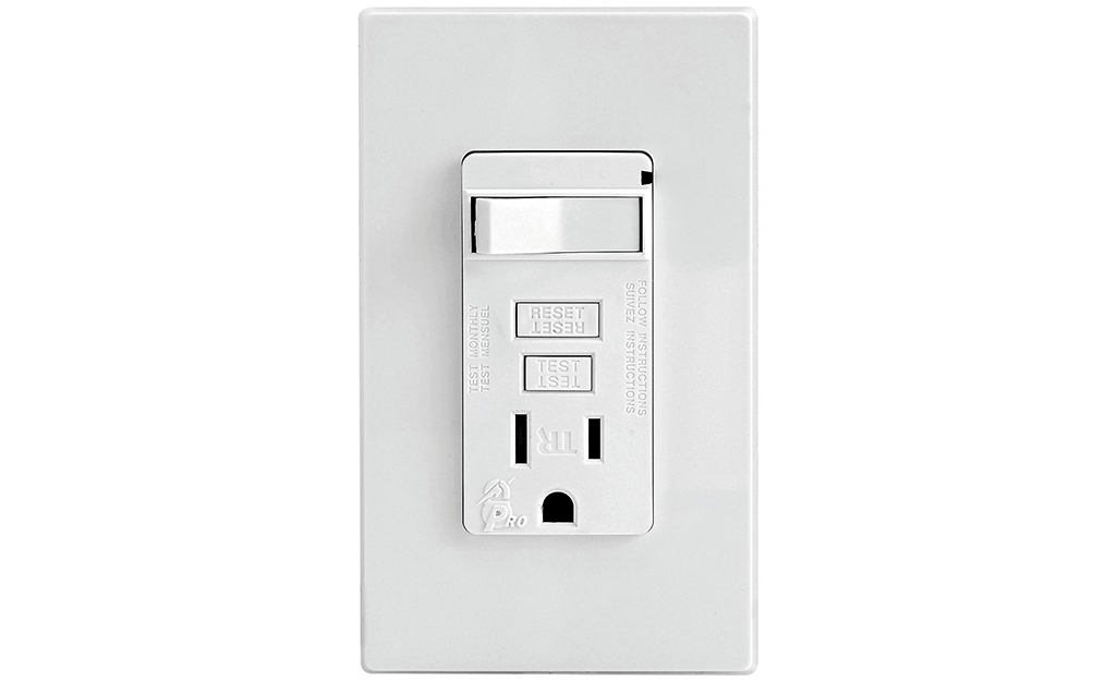 A combination outlet against a white background.