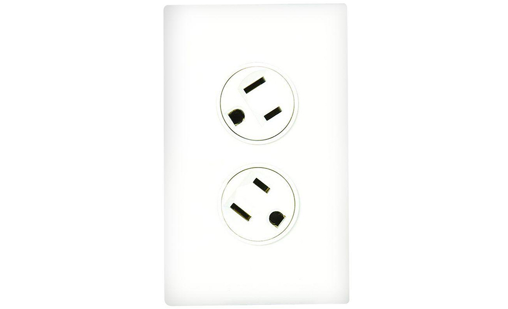 A rotating outlet against a white background.