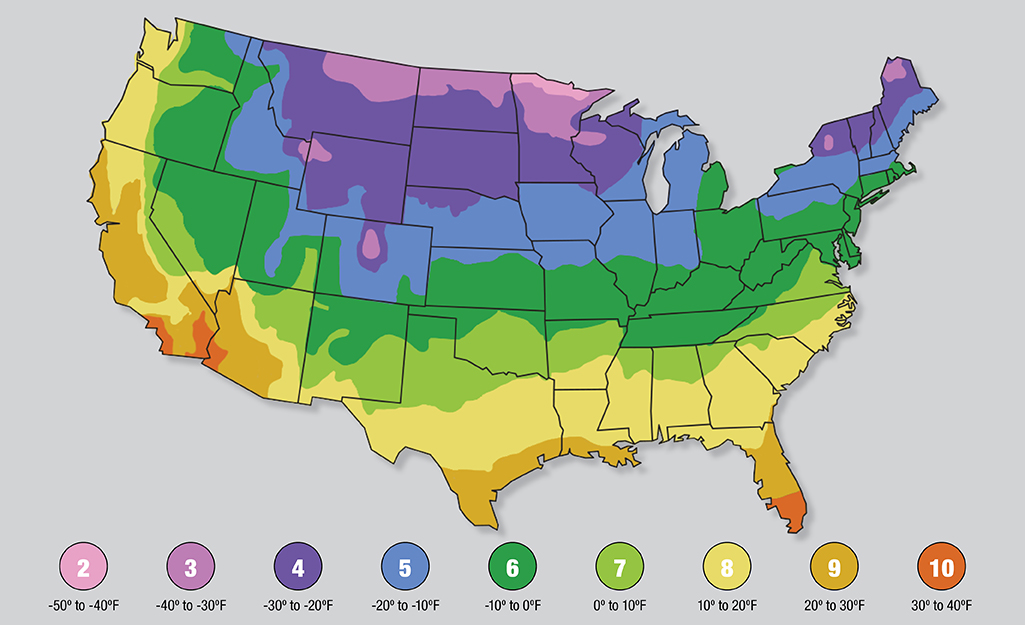 The USDA Hardiness Zone Map regions