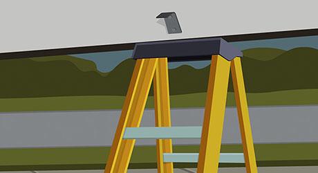Brace the open door - Adjust Uneven Garage Door