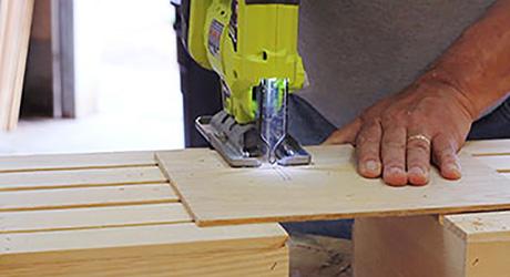 Cut the interlocking grid cuts- Build Beverage Crate