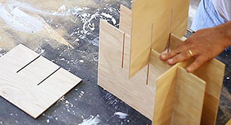 Interlock the inserts- Build Beverage Crate