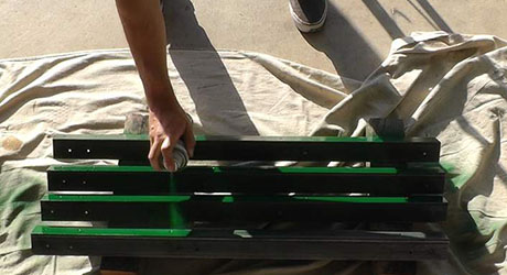 Paint the angle irons - Build a Grilling Cart