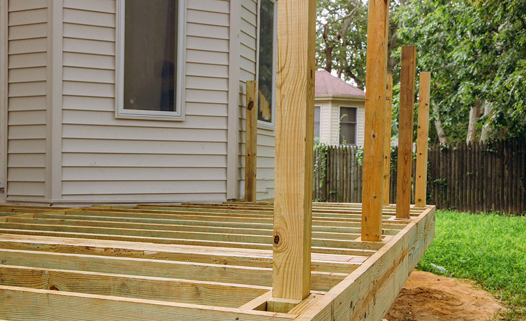 How To Build A Raised Deck The Home Depot