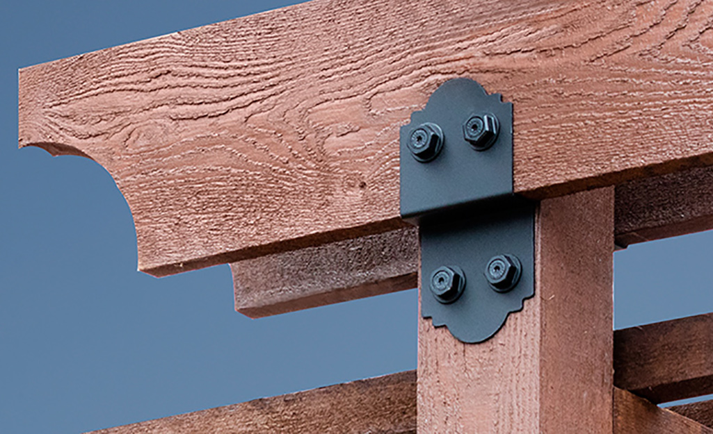 A close-up shot of joists attached to deck.